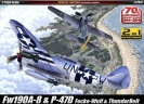 Academy 12513 Fw190A-8 & P-47D  SPECIAL EDITION